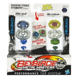Beyblade Shadow Strike Standoff Dark Wolf & Ray Serpent